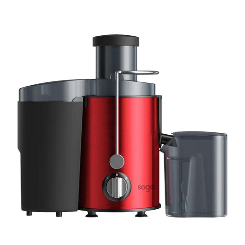 SOGA Juicer 400W Professional Stainless Steel Whole Fruit Vegetable Juice Extractor Diet Red