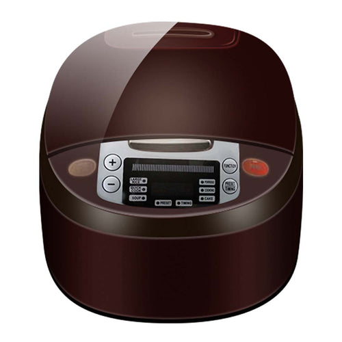 8 in 1 Electric Rice Cooker & Multicooker 5L Non-Stick 900W Chocolate