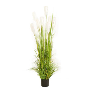 SOGA 150cm Green Artificial Indoor Potted Reed Grass Tree Fake Plant Simulation Decorative