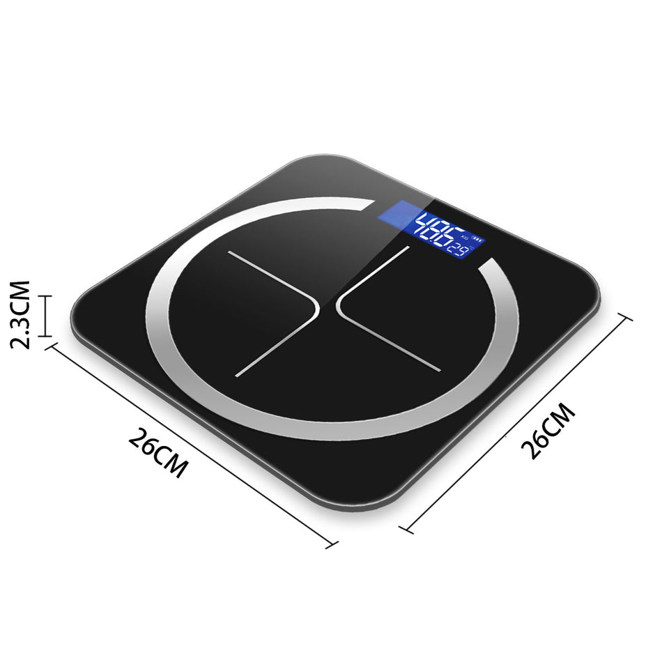SOGA 2X 180kg Digital Fitness Weight Bathroom Body Glass LCD Electronic Scales Black/Pink
