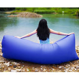 2X Fast Inflatable Sleeping Bag Lazy Air Sofa Blue/Green