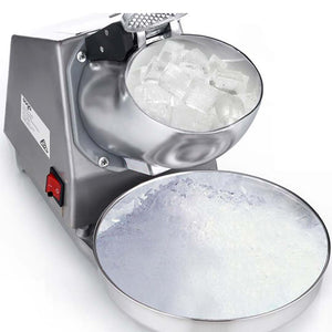 SOGA Dual Blade Ice Shaver Electric Stainless Steel Ice Crusher Slicer Machine Commercial