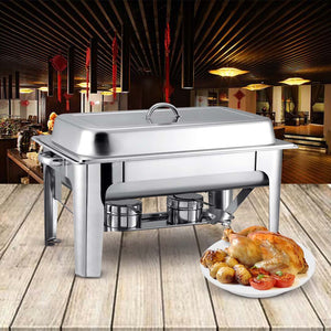 SOGA 4X Stainless Steel Chafing 9L Catering Dish Food Warmer