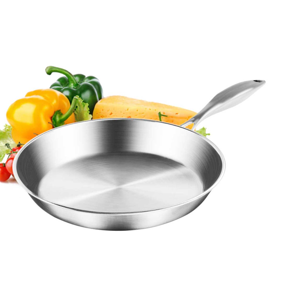 SOGA Stainless Steel Fry Pan 20cm Frying Pan Top Grade Induction Cooking FryPan