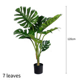 SOGA 4X 120cm Artificial Green Indoor Turtle Back Fake Decoration Tree Flower Pot Plant