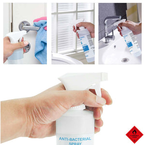 2X 500ml Standard Grade Disinfectant Anti-Bacterial Alcohol Spray Bottle