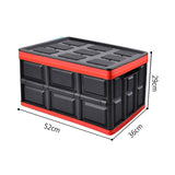 SOGA 56L Collapsible Waterproof Car Trunk Storage Multifunctional Foldable Box Black