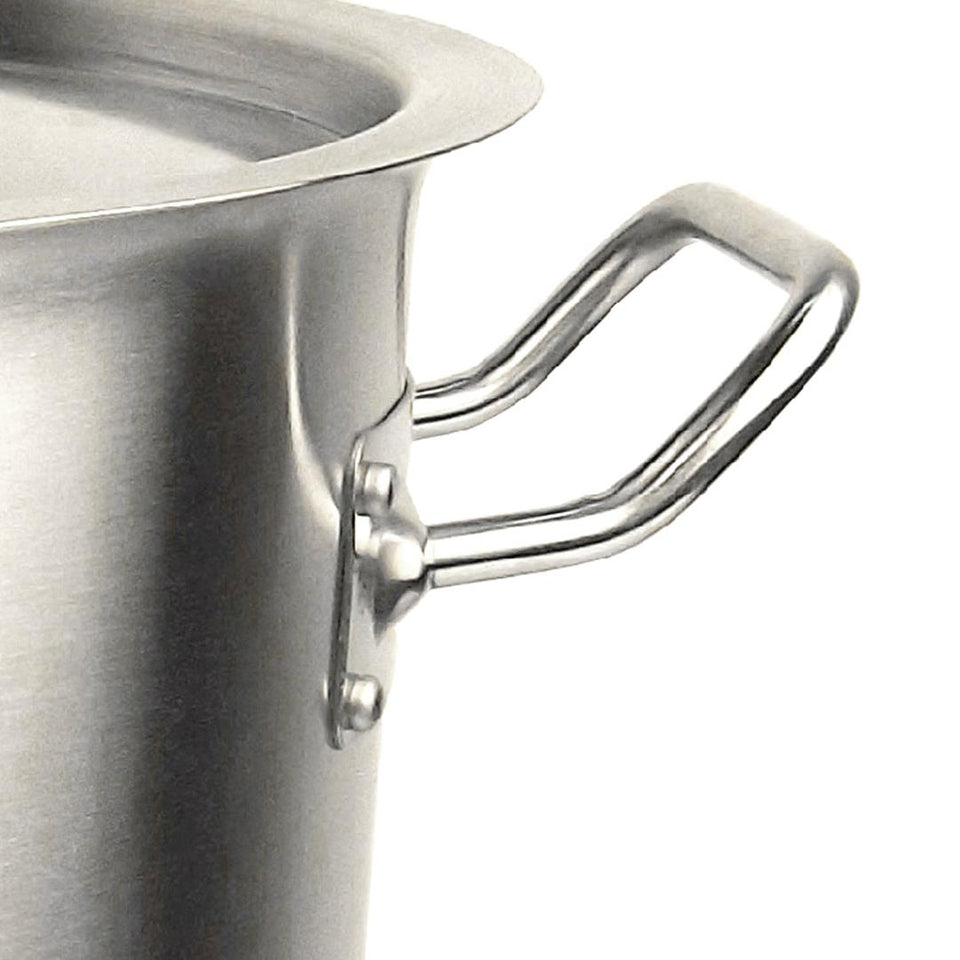 SOGA Stock Pot 32Lt Top Grade Thick Stainless Steel Stockpot 18/10 RRP $325