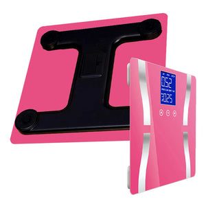 SOGA 2x Digital Body Fat Scale Bathroom Scales Weight Gym Glass Water LCD Electronic Blue