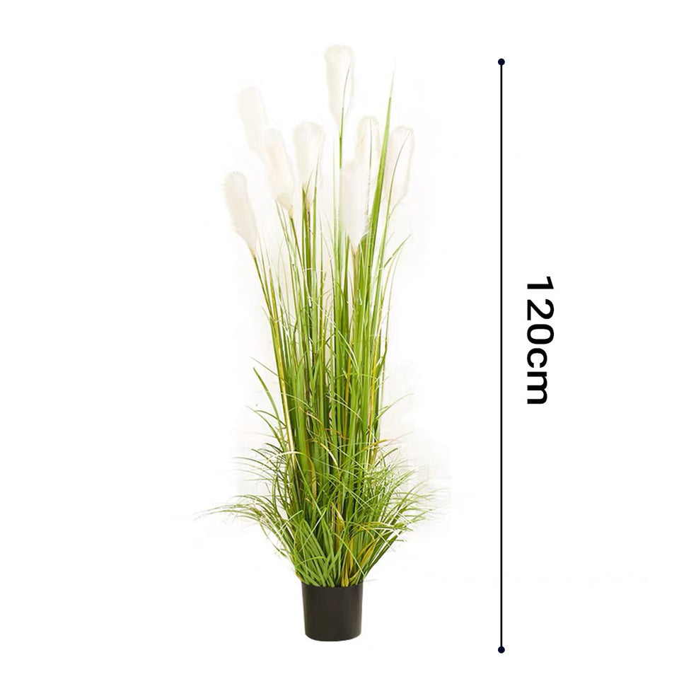 SOGA 2X 120cm Green Artificial Indoor Potted Reed Grass Tree Fake Plant Simulation Decorative