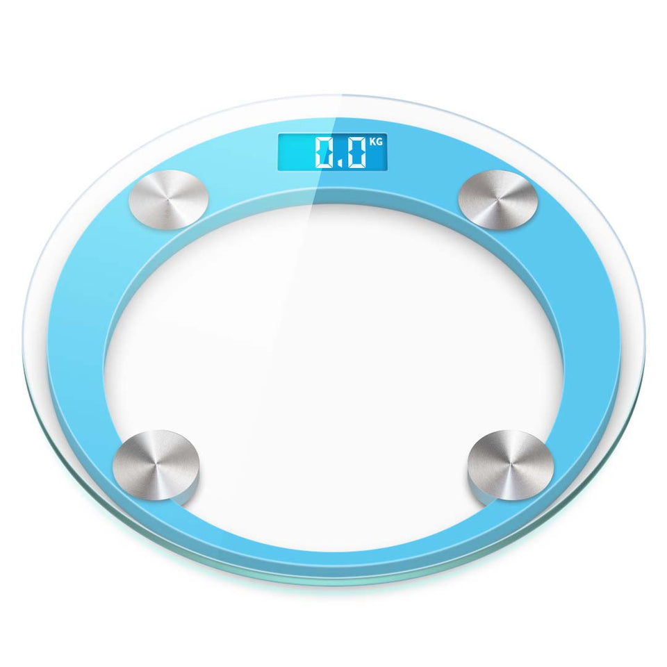 SOGA 180kg Digital Fitness Weight Bathroom Gym Body Glass LCD Electronic Scales Blue