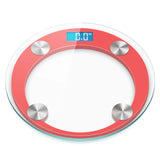 SOGA 2x 180kg Digital Fitness Weight Bathroom Gym Body Glass LCD Electronic Scales Red