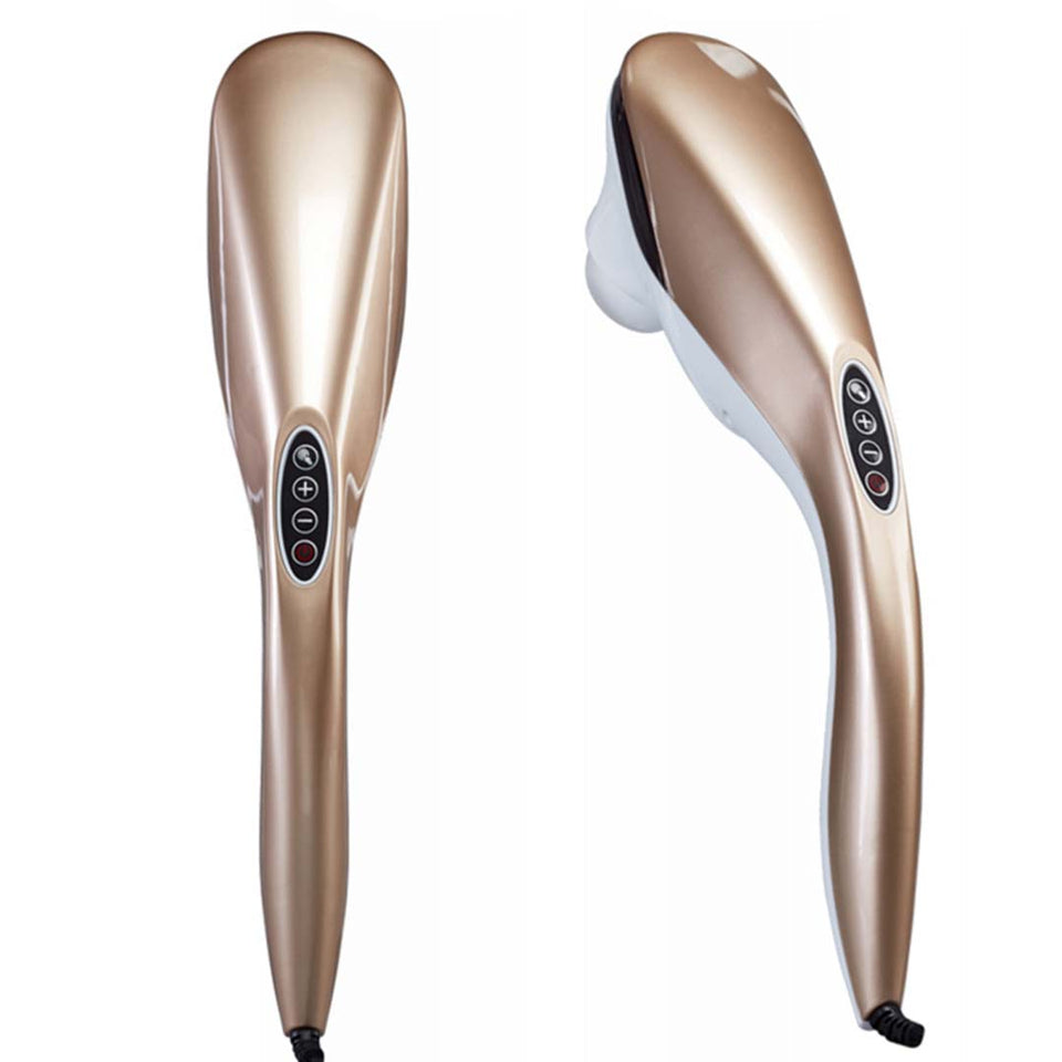 SOGA 2X 6 Heads Portable Handheld Massager Soothing Stimulate Blood Flow Gold