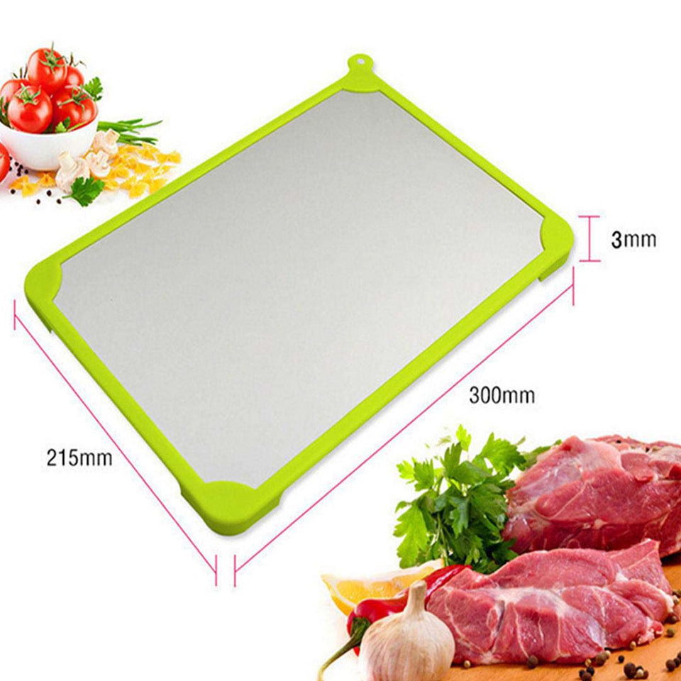 SOGA 2X Kitchen Fast Defrosting Tray The Safest Way to Defrost Meat or Frozen Food