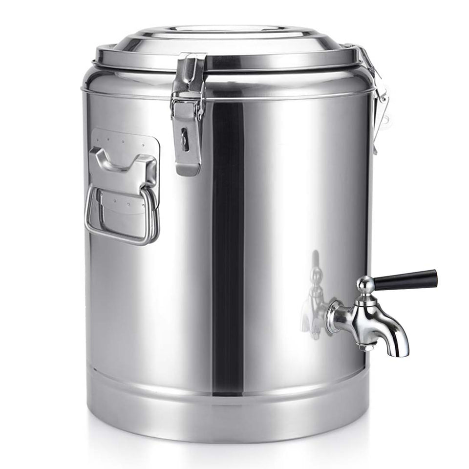 SOGA 2X 12L Stainless Steel Insulated Stock Pot Dispenser Hot & Cold Beverage Container With Tap