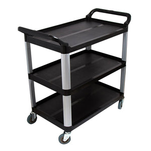 SOGA 2x 3 Tier Food Trolley Food Waste Cart w/ 2 Bin Food Utility Kitchen Large