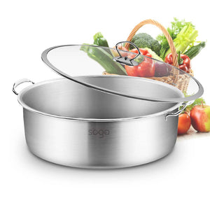SOGA Stainless Steel 30cm Casserole With Lid Induction Cookware