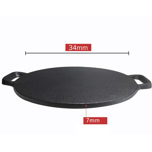 SOGA 2x Cast Iron Induction Crepes Pan Baking Cookie Pancake Pizza Bakeware