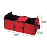 SOGA 2X Car Portable Storage Box Waterproof Oxford Cloth Multifunction Organizer Red