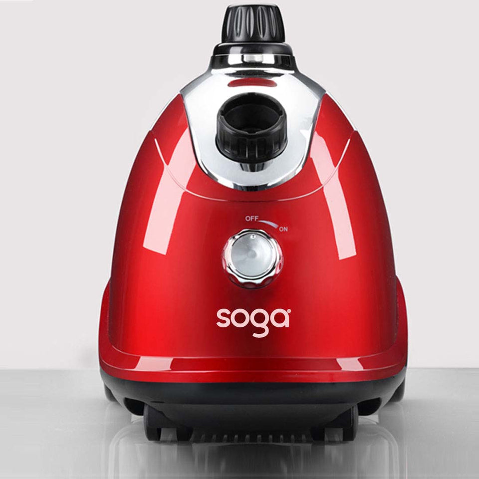 SOGA 2X Professional Commercial Garment Steamer Portable Cleaner Steam Iron Red