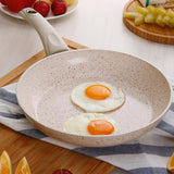 SOGA Non-Stick Fry Pan Marble Stone Ceramic Coated Skillet FryPan Cookware 20cm