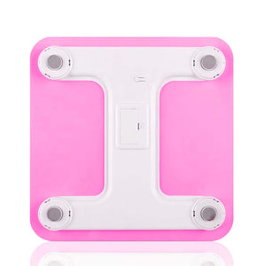 SOGA 2X 180kg Digital Fitness Weight Bathroom Gym Body Glass LCD Electronic Scales White/Pink