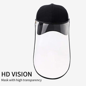Outdoor Protection Hat Anti-Fog Pollution Dust Saliva Protective Cap Full Face HD Shield Cover Adult White