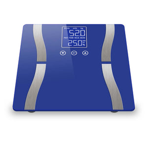 SOGA 2 x Digital Body Fat Scale Bathroom Scales Weight Gym Glass Water LCD Blue/White