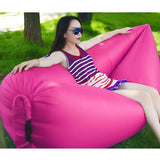 2X Fast Inflatable Sleeping Bag Lazy Air Sofa Pink/Green