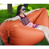 2X Fast Inflatable Sleeping Bag Lazy Air Sofa Orange/Pink