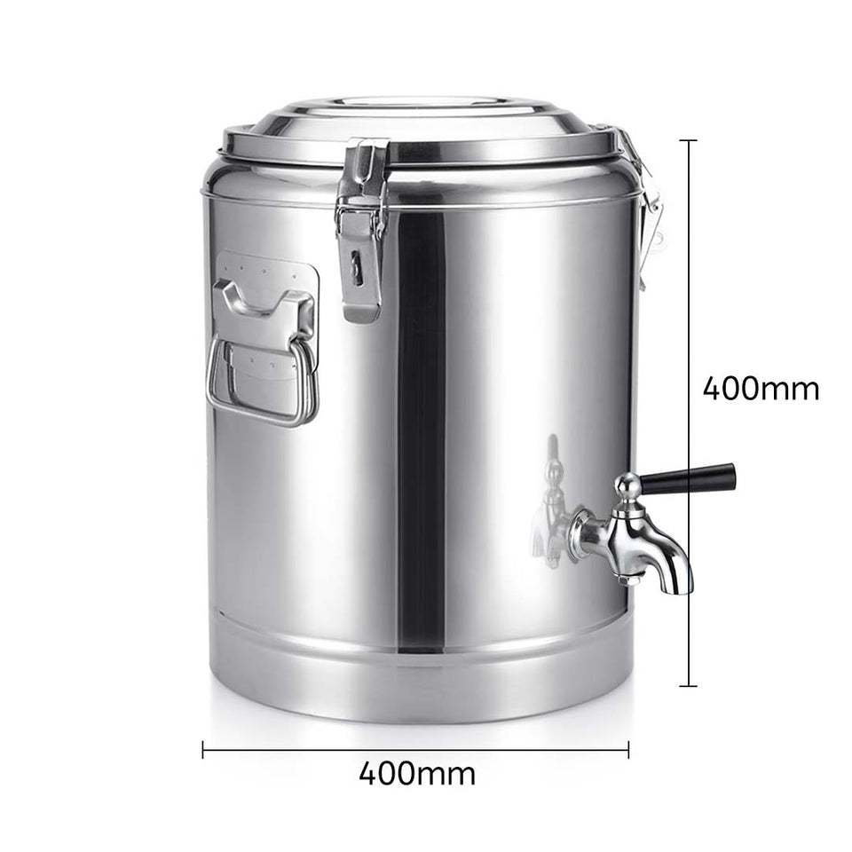 SOGA 2X 35L Stainless Steel Insulated Stock Pot Dispenser Hot & Cold Beverage Container With Tap