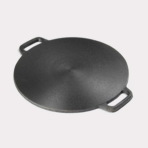 SOGA 2X 37cm Cast Iron Induction Crepes Pan Baking Cookie Pancake Pizza Bakeware