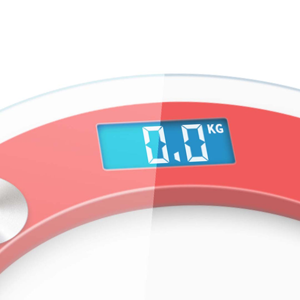 SOGA 2X 180kg Digital Fitness Weight Bathroom Gym Body Glass LCD Electronic Scale White/Red