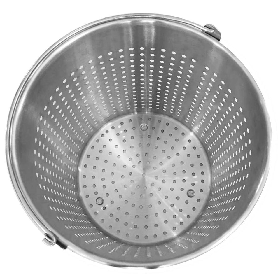 SOGA 2X 21L 18/10 Stainless Steel Perforated Stockpot Basket Pasta Strainer with Handle