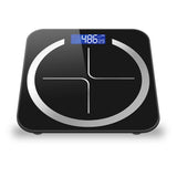 SOGA 2X 180kg Digital Fitness Weight Bathroom Body Glass LCD Electronic Scales Black