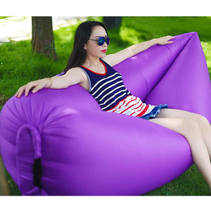Fast Inflatable Sleeping Bag Lazy Air Sofa Purple