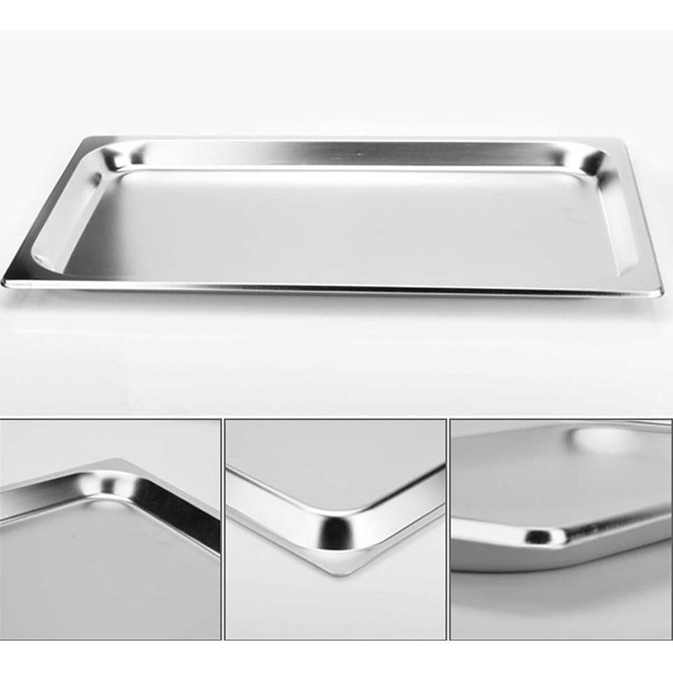 SOGA 4X Gastronorm GN Pan Full Size 1/1 GN Pan 6.5cm Deep Stainless Steel Tray With Lid