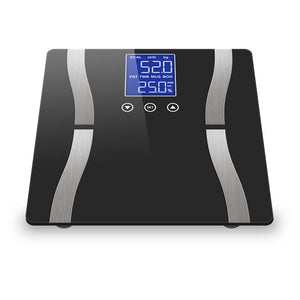 SOGA Digital Body Fat Scale Bathroom Scales Weight Gym Glass Water LCD Electronic Black