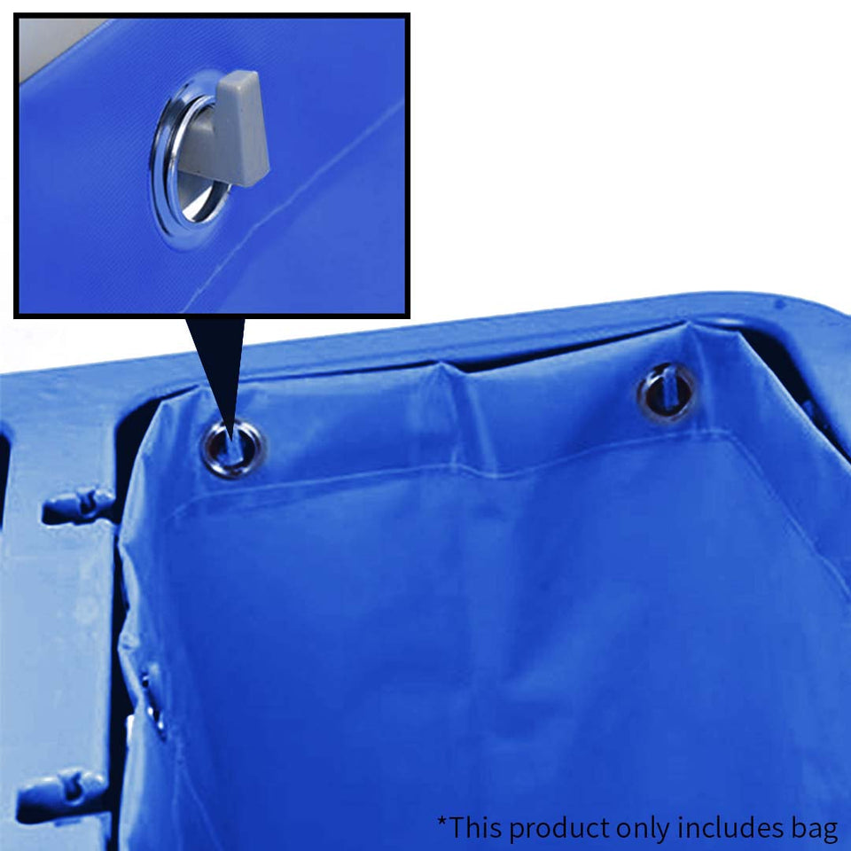 SOGA Oxford Waterproof Reusable Janitor Housekeeping Cart Replacement Bag Blue