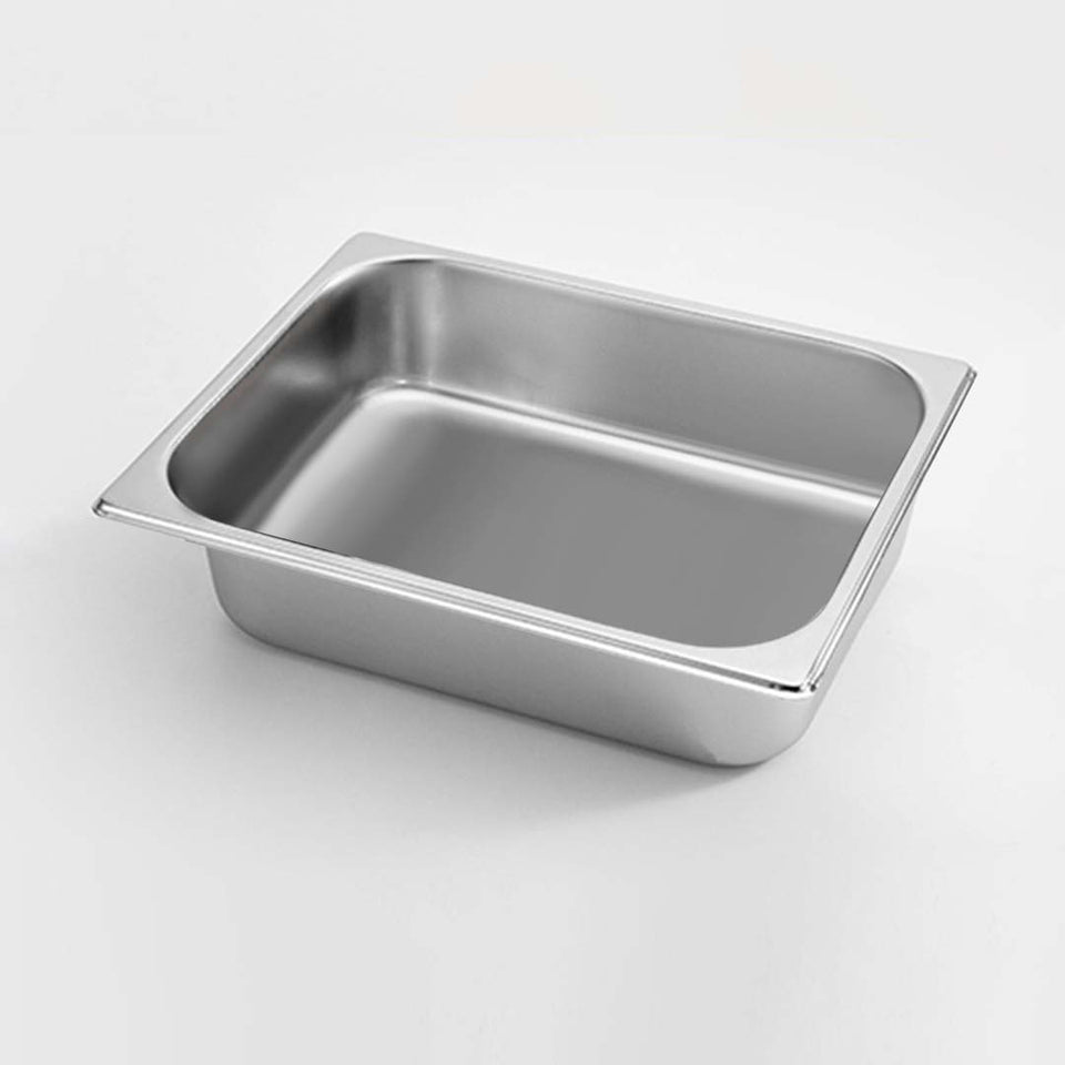 SOGA Gastronorm GN Pan Full Size 1/2 GN Pan 6.5cm Deep Stainless Steel Tray