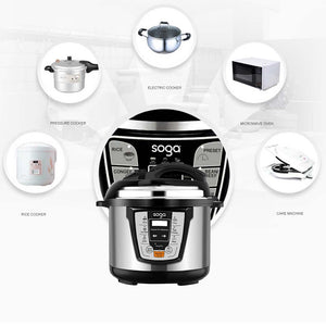 SOGA Electric Stainless Steel Pressure Cooker 6L 1600W Multicooker 16