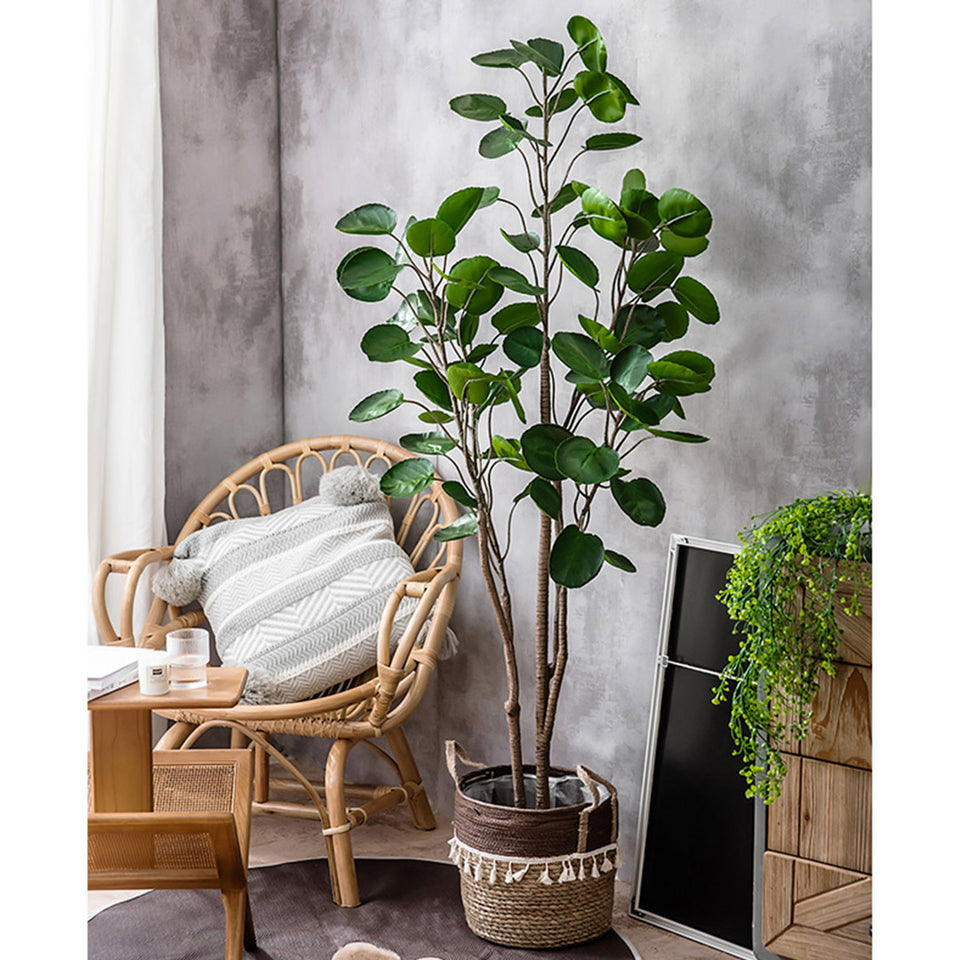 SOGA 95cm Green Artificial Indoor Pocket Money Tree Fake Plant Simulation Decorative