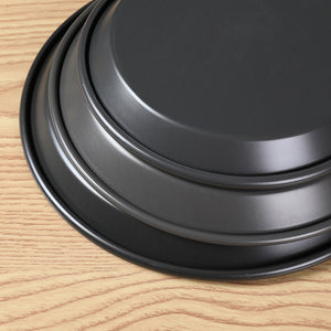 SOGA 6X 8-inch Round Black Steel Non-stick Pizza Tray Oven Baking Plate Pan