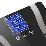 SOGA 2 x Digital Body Fat Scale Bathroom Scale Weight Gym Glass Water LCD Black/White