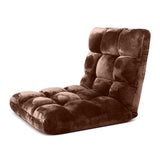SOGA Floor Recliner Folding Lounge Sofa Futon Couch Folding Chair Cushion Coffee