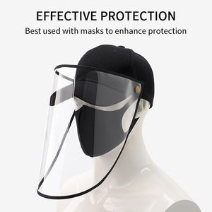 10X Outdoor Protection Hat Anti-Fog Pollution Dust Saliva Protective Cap Full Face HD Shield Cover Adult White