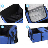 SOGA Portable Travel Camping Car Set Inflatable Air Bed Mattress Storage Organiser Handheld Vacuum Cleaner Black