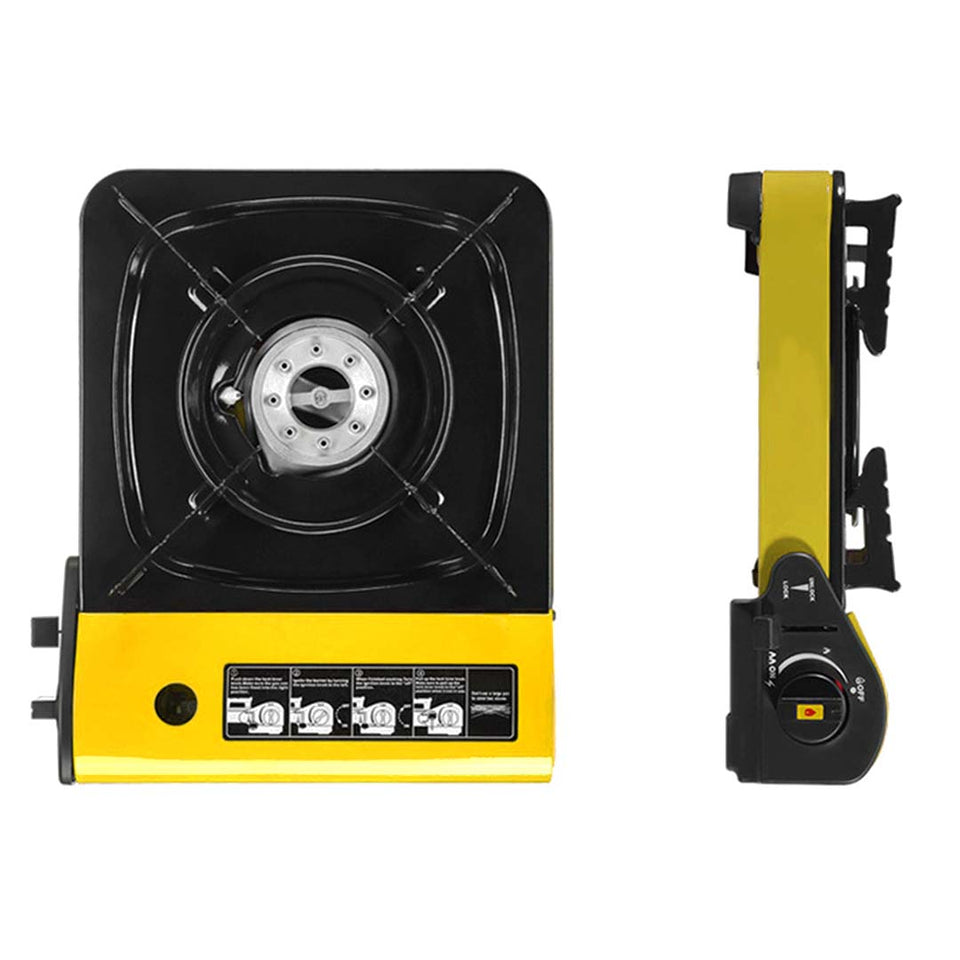 Portable Gas Stove Cooker Butane BBQ Camping Party Gas Burner Outdoor Yellow