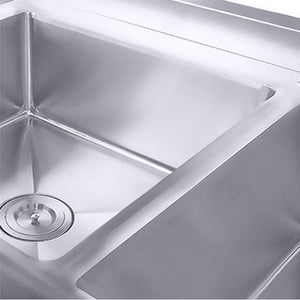 SOGA Stainless Steel Work Bench Right Sink Commercial Restaurant Kitchen Food Prep 160*70*85
