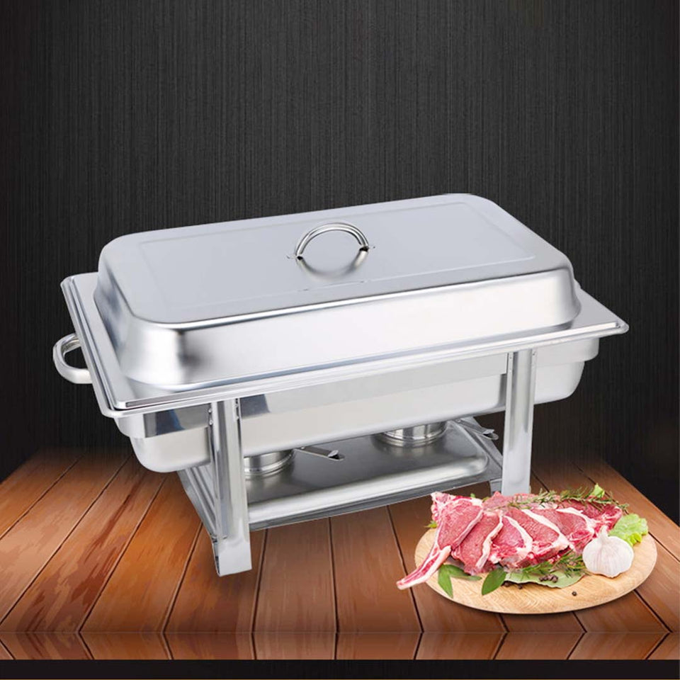 SOGA 4X Stainless Steel Chafing Double Tray Catering Dish Food Warmer